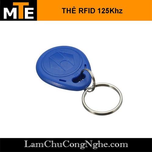 Thẻ RFID 125Khz kiểu móc khóa