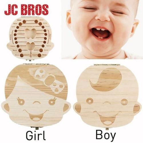 Hộp gỗ đựng răng sữa - cuống rốn - tóc máu cho bé