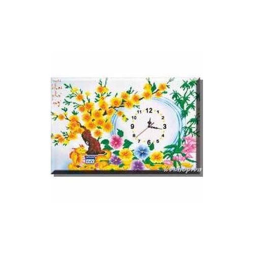 Tranh thêu chữ thập DH Mai Khai Phu Quy 88814 kt 51x36cm