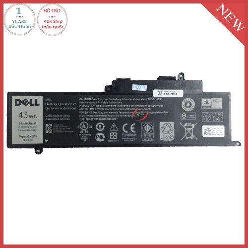 Pin laptop dell Inspiron 3147  43 Wh