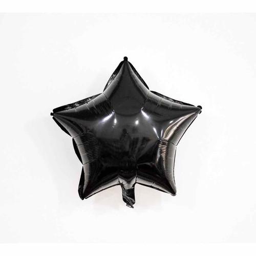 Bóng hình ngôi sao màu đen - set 2 bóng