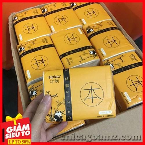 giấy ăn - giấy ăn sipao - thùng giấy ăn sipao gấu trúc 27 gói