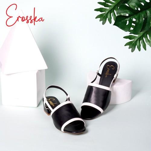 Giày Sandal Cao 3 Phân Phối Dây Thời Trang Erosska EM011 Màu Đen