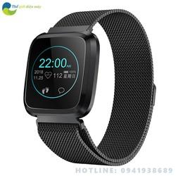 Đồng hồ thông minh FLY1 nhận thông báo tin nhắn, cuộc gọi, đo huyết áp, nhịp tim, màn hình màu IPS 1 điểm chạm - bảo hành 12 tháng - shop Thế giới điện máy