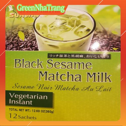 Bột Trà Sữa Matcha Mè Đen Sunway Black Sesame Matcha Milk