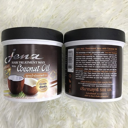 Kem ủ tóc tinh chất dầu dừa Jena 500ml Thái Lan – Hấp tóc dầu dừa Jena Coconut Hair Treatment Wax