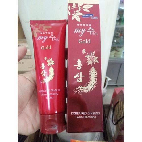 Sữa Rửa Mặt Ngăn Ngừa Nám Hồng Sâm MY GOLD 130ml