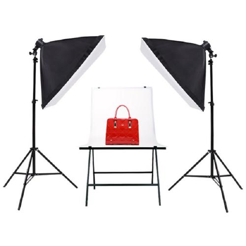 Bộ Đèn Studio Chụp Ảnh Sản Phẩm Chân Đèn 2m Kèm Softbox 50x70 Hỗ Trợ Sáng