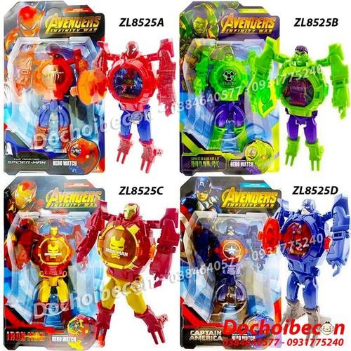 Robot biến hình đồng hồ đeo tay các nhân vật Siêu anh hùng ZL8525 - Có đèn - Nhiều mẫu