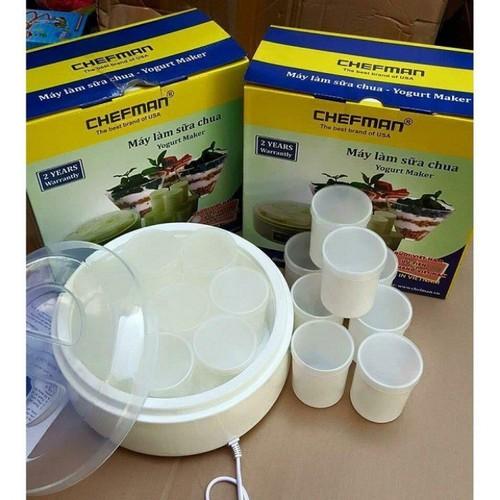 Máy Làm Sữa Chua Chefman Loại 16 Cốc Thủy Tinh- Đồ Gia Dụng Giá Rẻ Amina