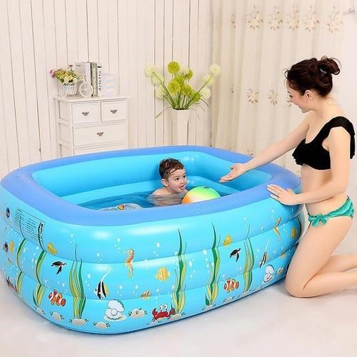 Bể bơi phao 3 tầng cho bé + tặng bơm 2 chiều - 7978744 , 17649214 , 15_17649214 , 450000 , Be-boi-phao-3-tang-cho-be-tang-bom-2-chieu-15_17649214 , sendo.vn , Bể bơi phao 3 tầng cho bé + tặng bơm 2 chiều