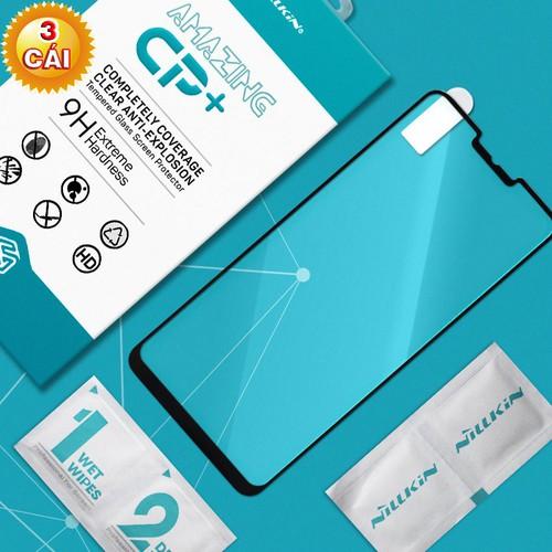 Combo 3 kính cường lực LG G7 Plus Full Nillkin đen
