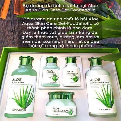 Bộ Dưỡng Da Lô Hội Foodaholic Aloe Aqua Skin Care