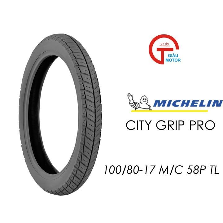 Lốp MICHELIN 100.80-17 CITY GRIP PRO MC TL 53P Vỏ xe máy MICHELIN size 100.80-17 CITY GRIP PRO MC TL 50P Việt Nam, giá rẻ, uy tín 1