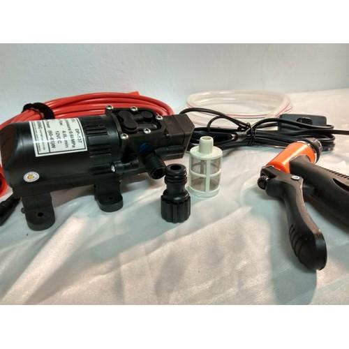 Bộ máy bơm rửa xe tăng áp lực nước mini giúp bạn dễ dàng tăng áp lực của nước không có nguồn