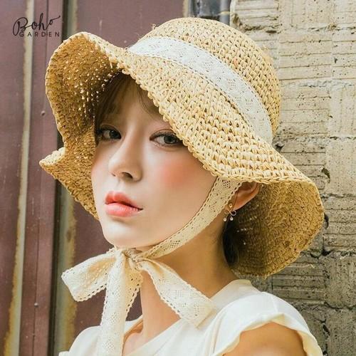 Mũ Ulzzang Cột Nơ Hàn Quốc - Ảnh Thật