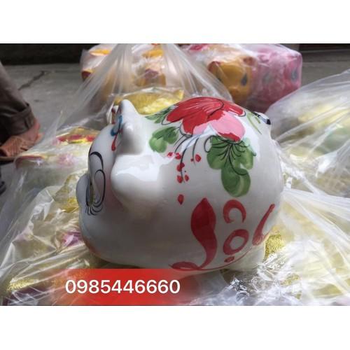 Lợn đất lợn sứ nơ Bát Tràng tiết kiệm tiền màu trắng - 4713995 , 17665016 , 15_17665016 , 120000 , Lon-dat-lon-su-no-Bat-Trang-tiet-kiem-tien-mau-trang-15_17665016 , sendo.vn , Lợn đất lợn sứ nơ Bát Tràng tiết kiệm tiền màu trắng