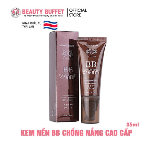 Kem Nền Beauty Buffet GINO McCRAY Heritage 35ml No.1 Light Beige