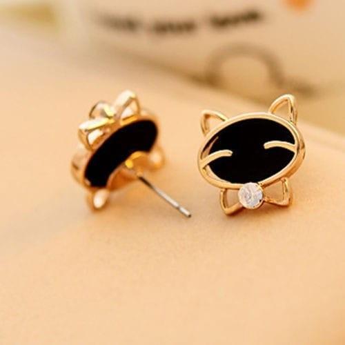 Hoa tai mèo đen dễ thương