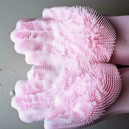Găng tay silicon đa năng găng tay rửa chén vệ sinh nhà tắm