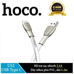 Cáp sạc USB Type  C Hoco U52 sạc nhanh 2.4A dài 1.2m. Hãng phân phối chính thức