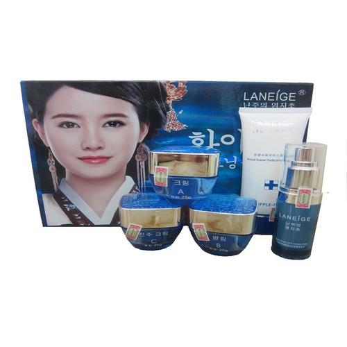Bộ mỹ phẩm trị nám và trắng da cao cấp Laneige Xanh 5 in 1