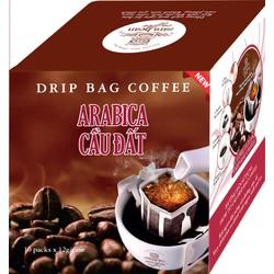 Cà phê túi lọc Arabica Cầu Đất hộp 120g
