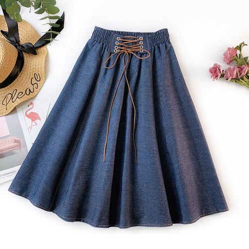 SIÊU SALE - Chân váy mùa hè chất vải Jeans Demin mềm nhẹ phong cách thời trang 2019 YT01258