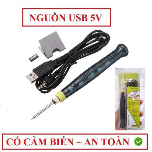 Mỏ Hàn Nhiệt Mini Dùng Nguồn USB 5V-8W Siêu Tiện Dụng + Tặng Cuộn Thiếc Nhỏ