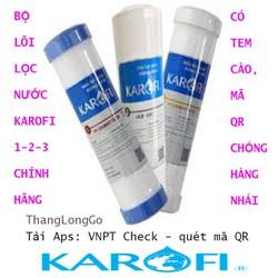 Bộ 3 lõi lọc nước karofi 123 | Bộ lõi lọc nước karofi 1-2-3 chính hãng