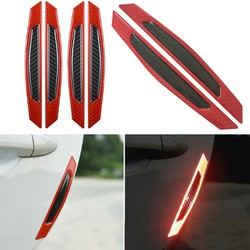 Bộ 04 miếng dán carbon phản quang dán bảo vệ trang trí xe ô tô