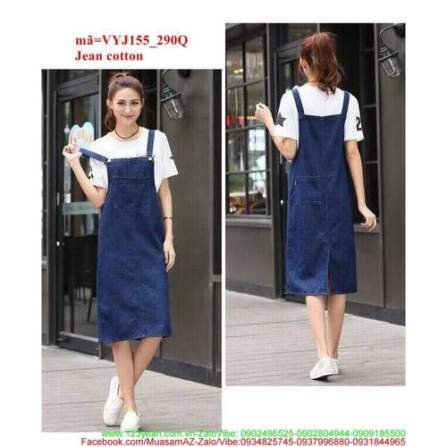Váy yếm jean maxi 2 dây xinh xắn đáng iu VYJ155
