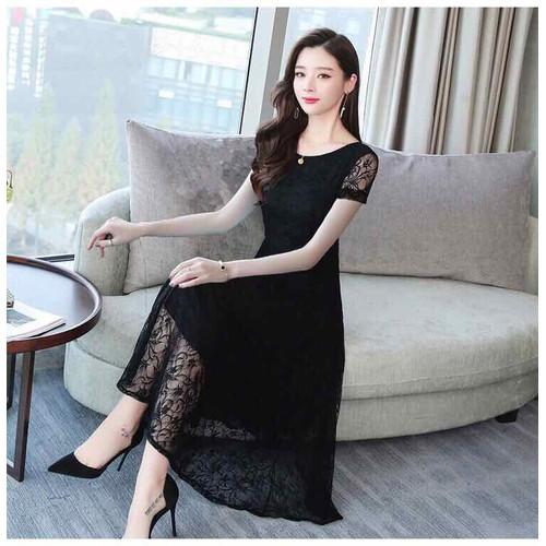 Đầm ren đen