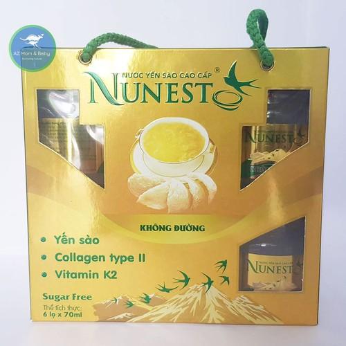 Lốc yến sào cao cấp collagen vitamin K2 không đường Nunest 6 lọ x 70ml - 10507052 , 17679553 , 15_17679553 , 290000 , Loc-yen-sao-cao-cap-collagen-vitamin-K2-khong-duong-Nunest-6-lo-x-70ml-15_17679553 , sendo.vn , Lốc yến sào cao cấp collagen vitamin K2 không đường Nunest 6 lọ x 70ml