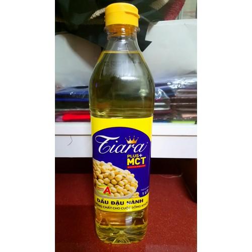Dầu đậu nành  Tiara  PLUS + MCT - Dầu ăn Malaysia 1Lit