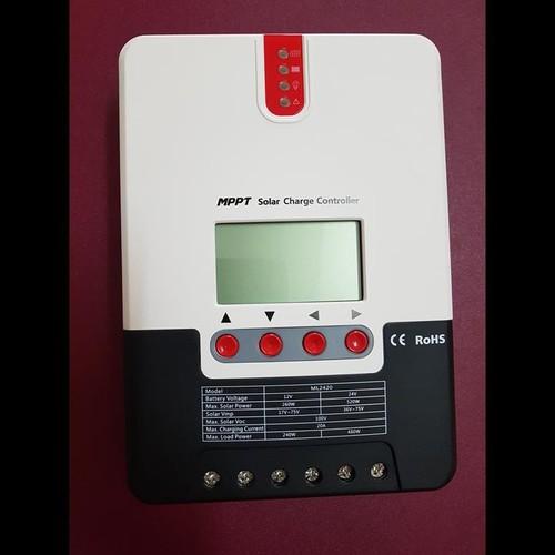 Bộ điều khiển sạc năng lượng mặt trời MPPT 20A ML2420 12V-24V auto