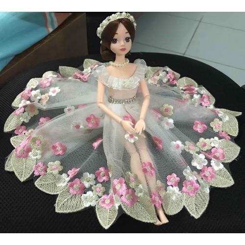 trọn bộ búp bê khớp mặc váy thuê hoa lá