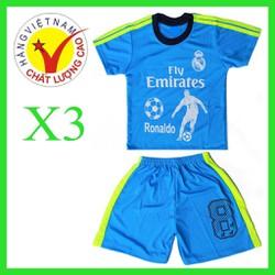 combo 3 bộ đồ thể thao cho em bé-thun lạnh -3 màu khác nhau