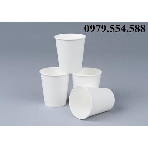 3 lốc - 90 cốc giấy trắng - ly giấy trắng dùng 1 lần 240ml