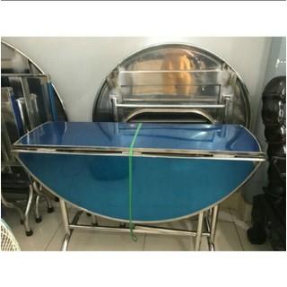 bàn inox xếp 3 lá đk 1m20 dày 1LY cao cấp - 1390 thumbnail