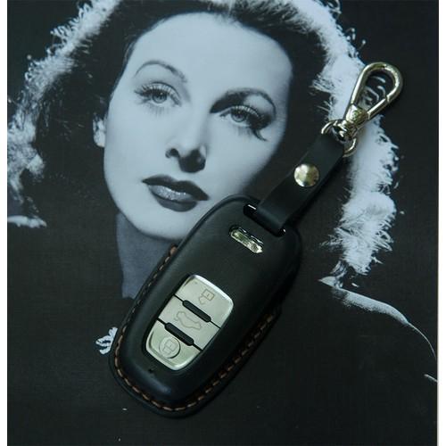 Bao da khóa A6 AUDI - chất liệu da bò - màu đen DT107