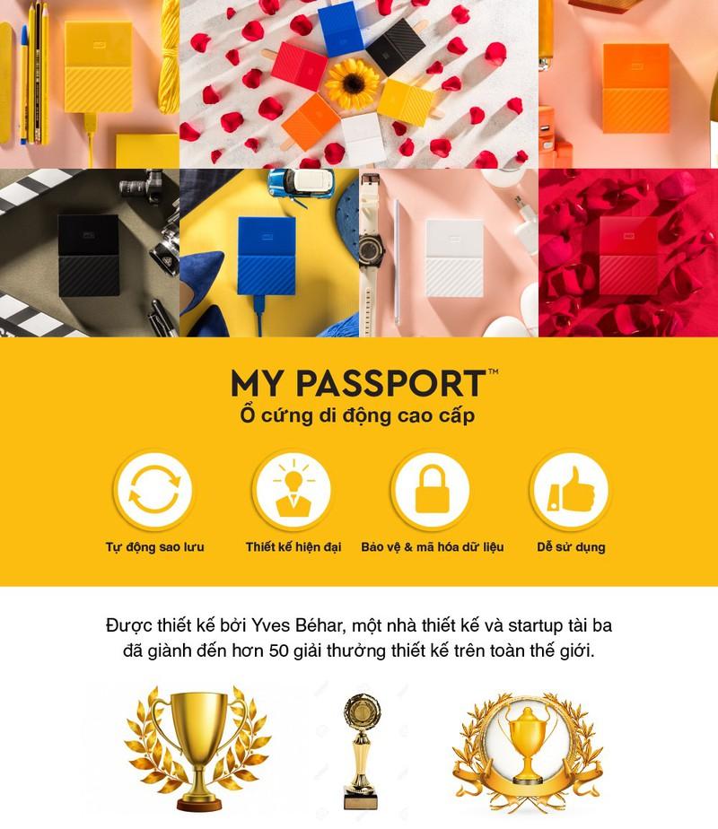Ổ cứng di động 2TB WD My Passport 5