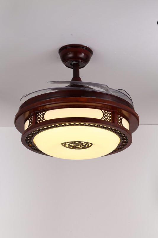 Quạt trần đèn cánh gỗ cao cấp 8123i - Quạt trần trang trí 5