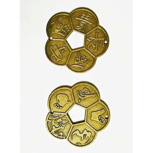 Combo 20 đồng tiền hoa mai cỡ lớn 5cm