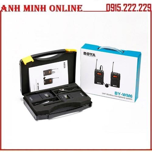 Micro Cài Áo Không Dây Cho Máy Ảnh UHF Wireless BOYA BY-WM6 - 4917169 , 17716476 , 15_17716476 , 2950000 , Micro-Cai-Ao-Khong-Day-Cho-May-Anh-UHF-Wireless-BOYA-BY-WM6-15_17716476 , sendo.vn , Micro Cài Áo Không Dây Cho Máy Ảnh UHF Wireless BOYA BY-WM6