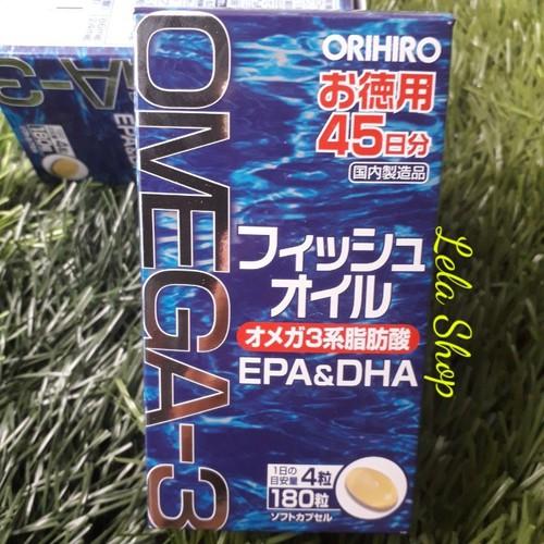 Viên Uống Dầu Cá Omega Orihiro Nhật Bản Hộp 180 Viên