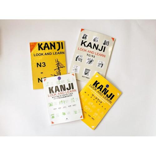 Kanji look and learn trọn bộ 4 cuốn