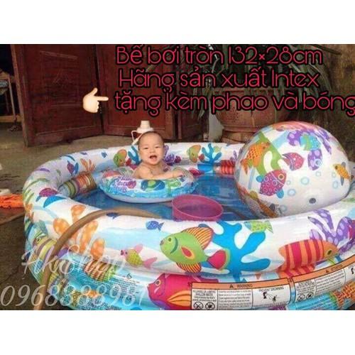 Bể bơi tròn  tặng kèm phao và bóng rộng 132 cm cao 28 cm - 4912575 , 17693552 , 15_17693552 , 230000 , Be-boi-tron-tang-kem-phao-va-bong-rong-132-cm-cao-28-cm-15_17693552 , sendo.vn , Bể bơi tròn  tặng kèm phao và bóng rộng 132 cm cao 28 cm