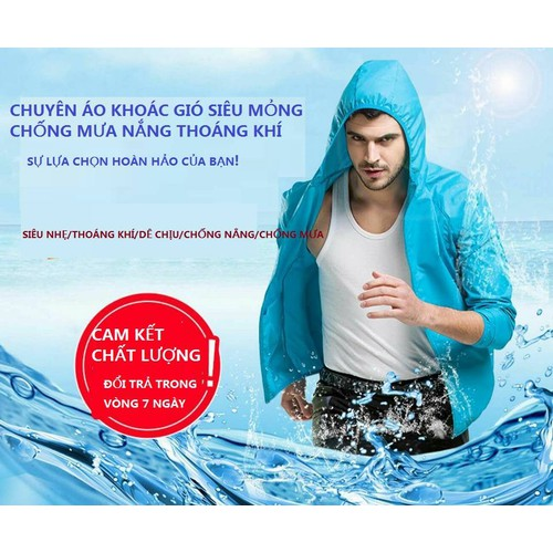 Áo khoác abs chống nắng chống mưa