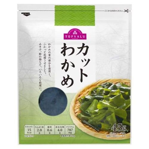 Rong biển tươi sấy khô nấu canh Topvalu 45gr Nhật Bản